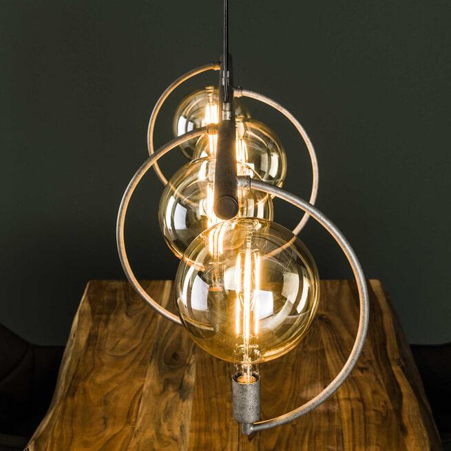 Hanglamp 'Cynthia' kleur Oud Zilver