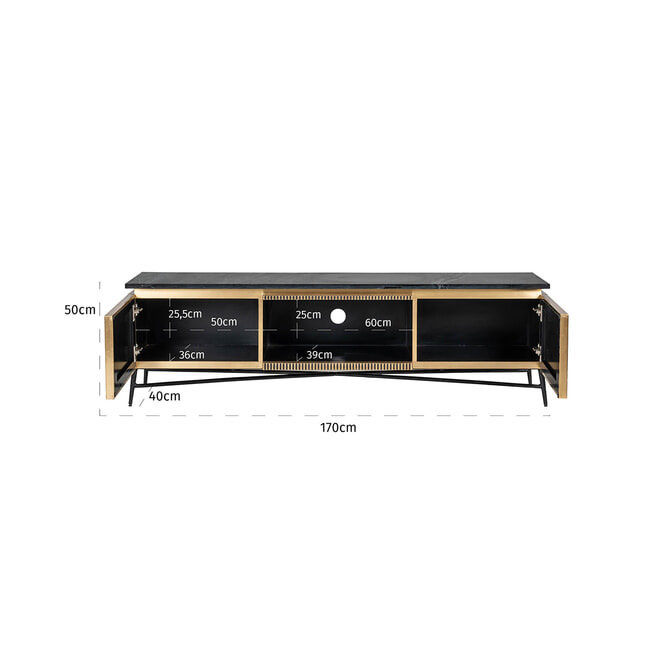 Richmond TV-meubel 'Ironville' 170cm