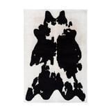 Kayoom Vloerkleed 'Rabbit Cow' kleur zwart / wit, 120 x 160cm