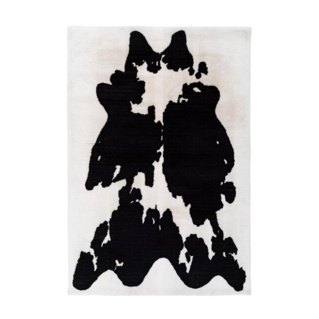 Kayoom Vloerkleed 'Rabbit Cow' kleur zwart / wit
