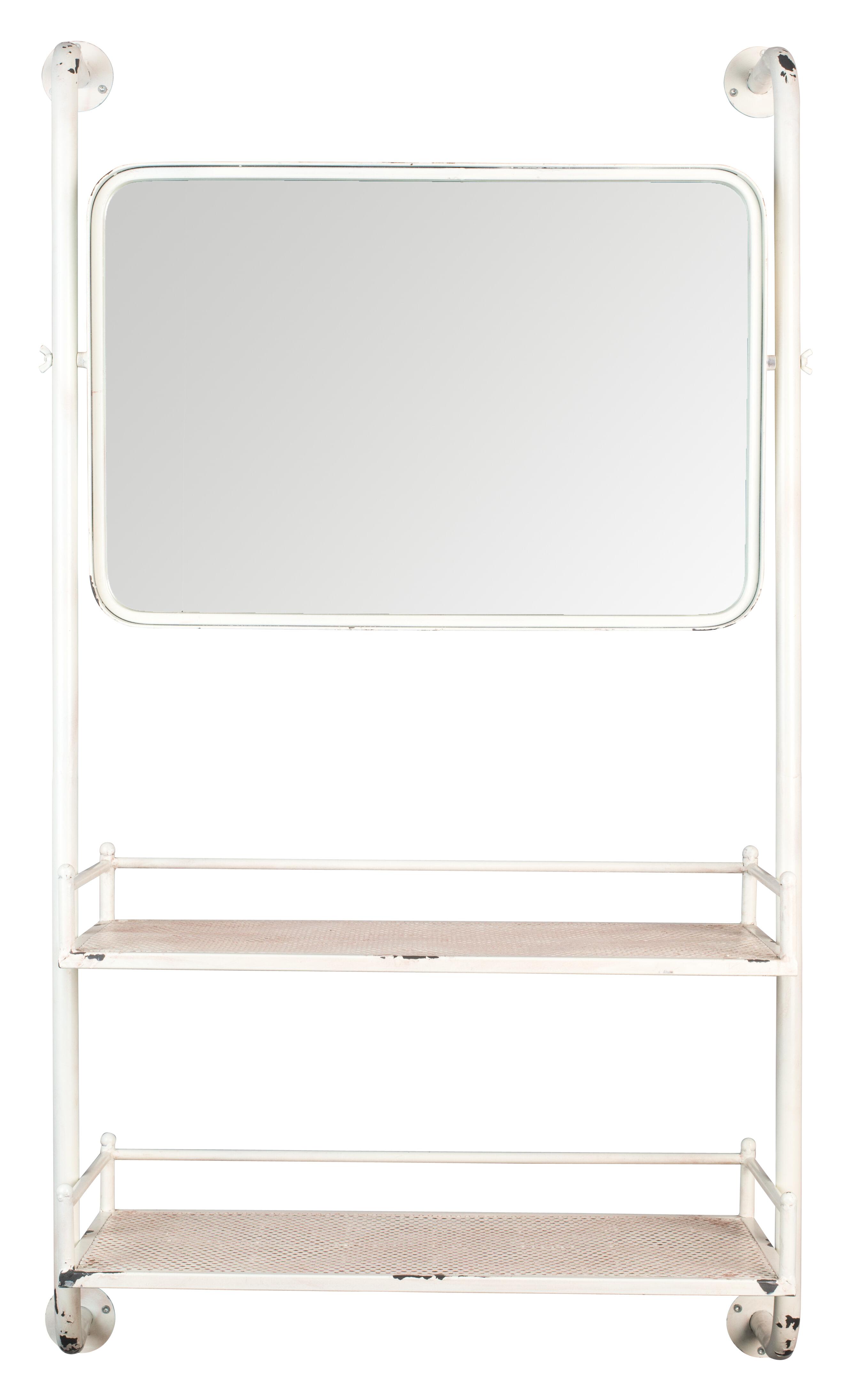 Dutchbone Wandrek 'Barber' met spiegel, 120 x 70cm