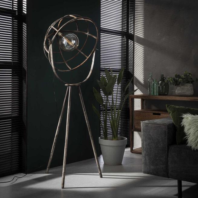Industriele Vloerlamp 'Strother' 165cm hoog