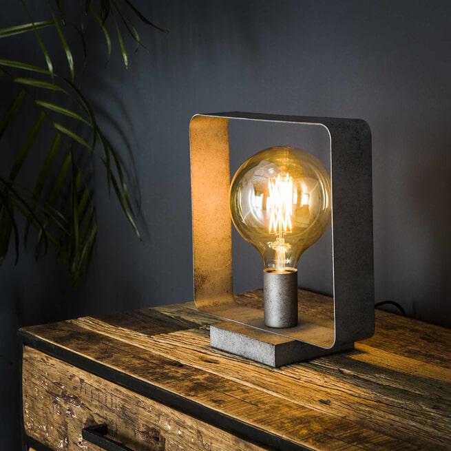 Tafellamp 'Brittany' kleur Oud Zilver