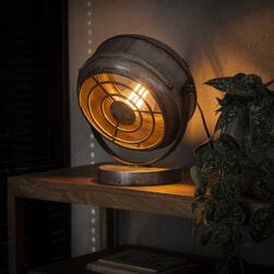 Tafellamp 'Annabella' kleur oud zilver