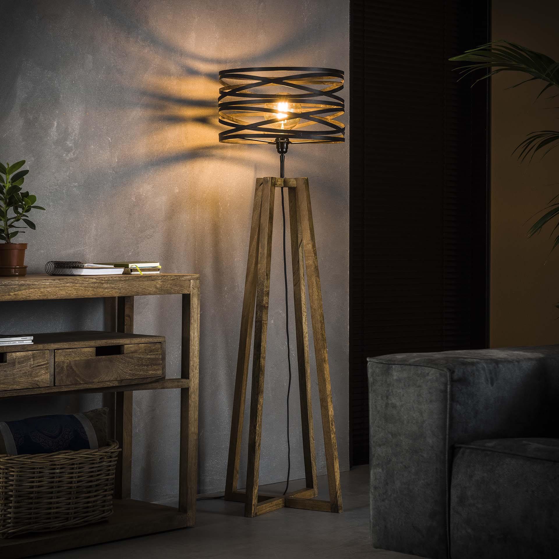 Vloerlamp 'Manuel' 1-lamps, Ø41cm