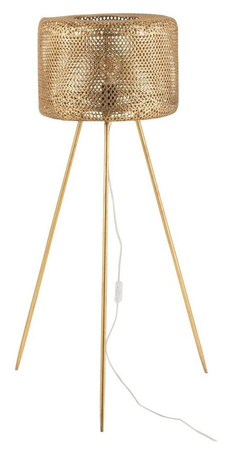 J-Line Vloerlamp 'Gui' 105cm hoog, kleur Goud