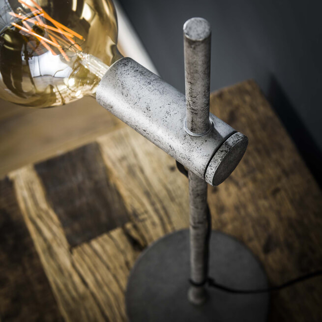 Tafellamp 'Bel' kleur Oud Zilver