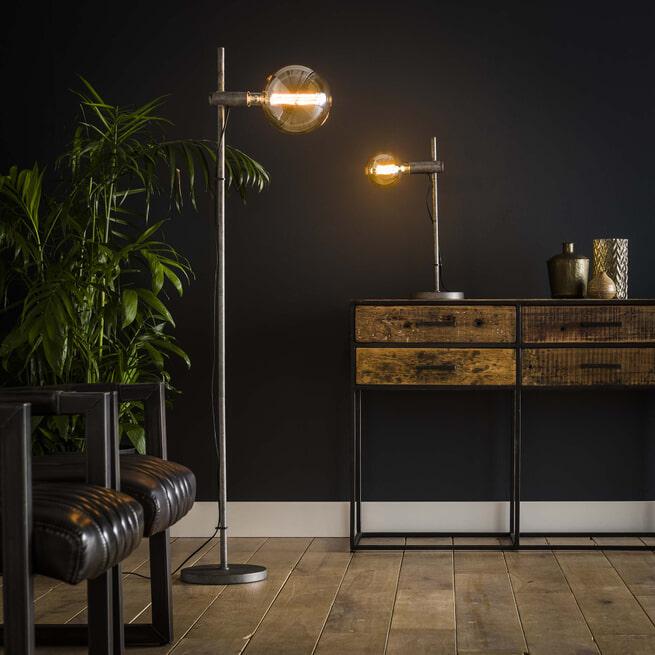 Vloerlamp 'Bel' kleur Oud Zilver