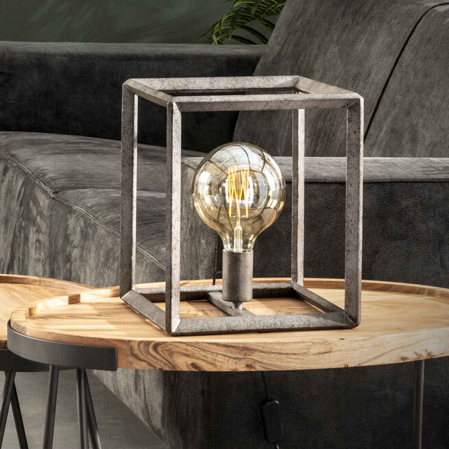 Tafellamp 'Janice' Oud zilver