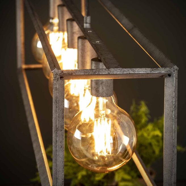 Hanglamp 'Janice' Oud zilver