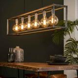 Hanglamp 'Janice' Oud zilver, 6-lamps
