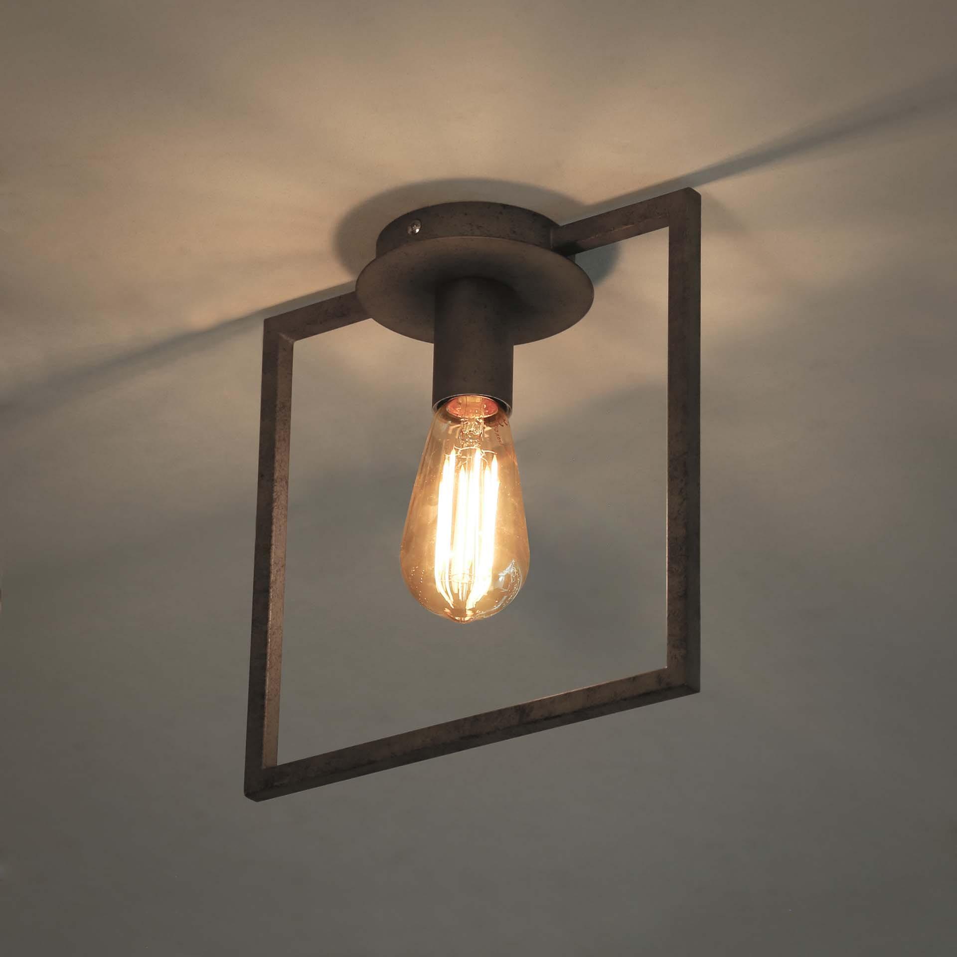 Plafondlamp 'Shay' Oud zilver