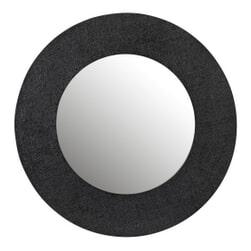 J-Line Ronde Spiegel 'Janina' kleur Zwart
