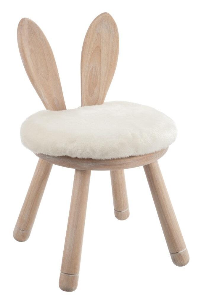 J-Line Krukje 'Guilielmus' Konijn, kleur Naturel / Wit, Ø16,5cm