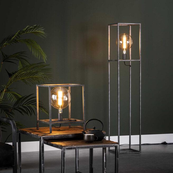 Vloerlamp 'Lora' Oud zilver