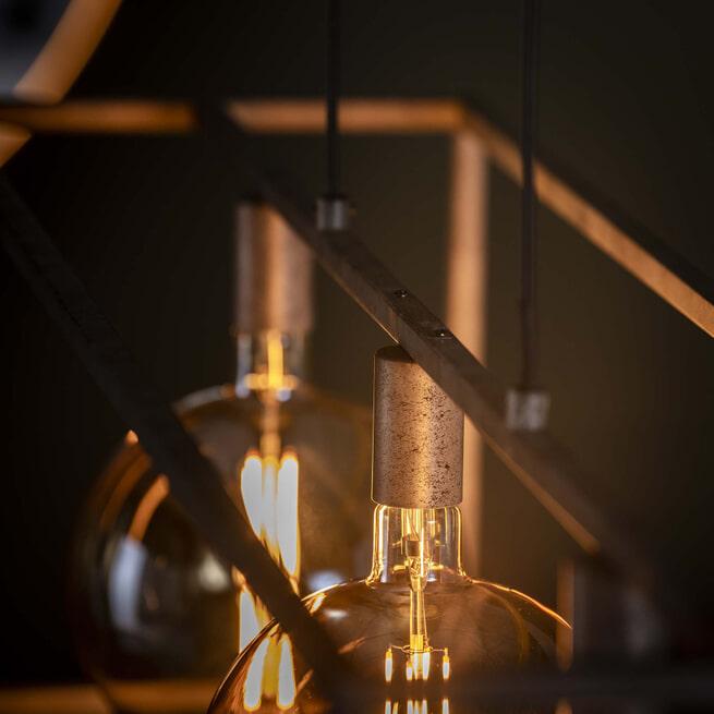 Hanglamp 'Lora' Oud zilver