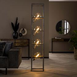 Vloerlamp 'Zoja' oud zilver, 4-lamps