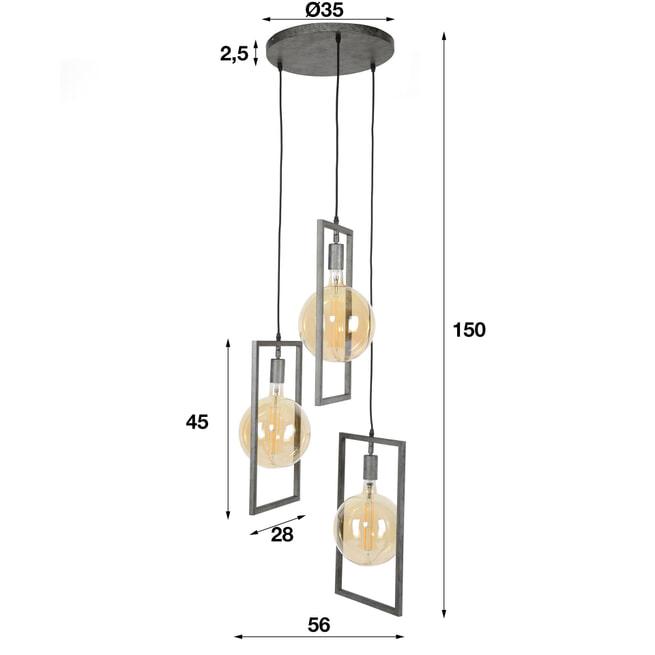 Hanglamp 'Zoe' 3-lamps