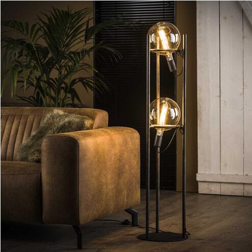 Vloerlamp 'Saturn' 2-lamps, Ø20cm