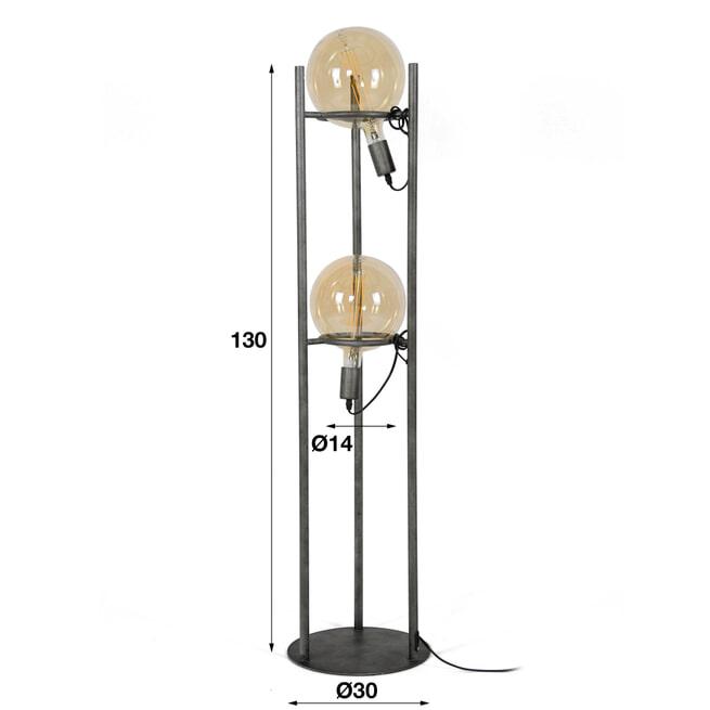 Vloerlamp 'Saturn' 2-lamps (excl. lichtbronnen)