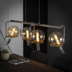 Hanglamp 'Saturn' 4-lamps, Ø20cm