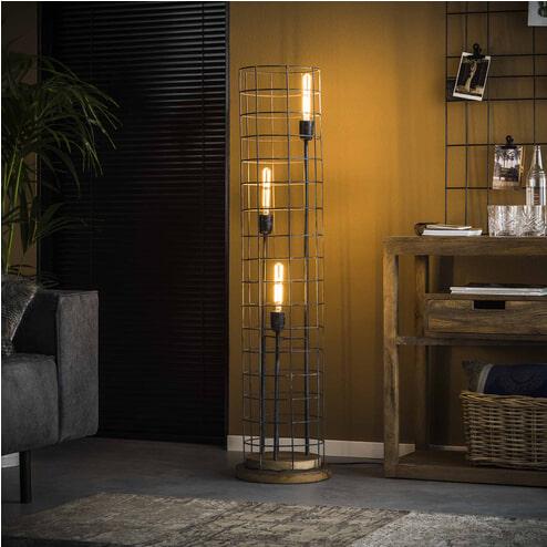 Vloerlamp 'Liya' 3-lamps, Ø31cm