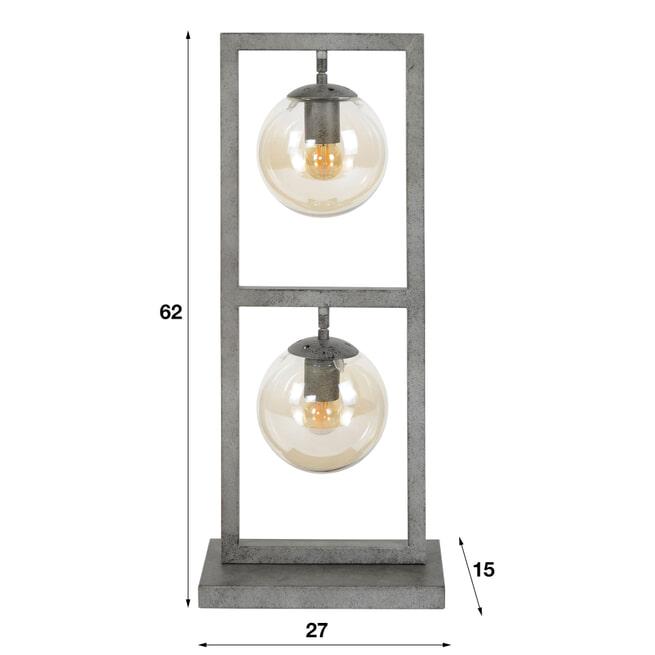 Tafellamp 'Ferry' 2-lamps, Ø15cm