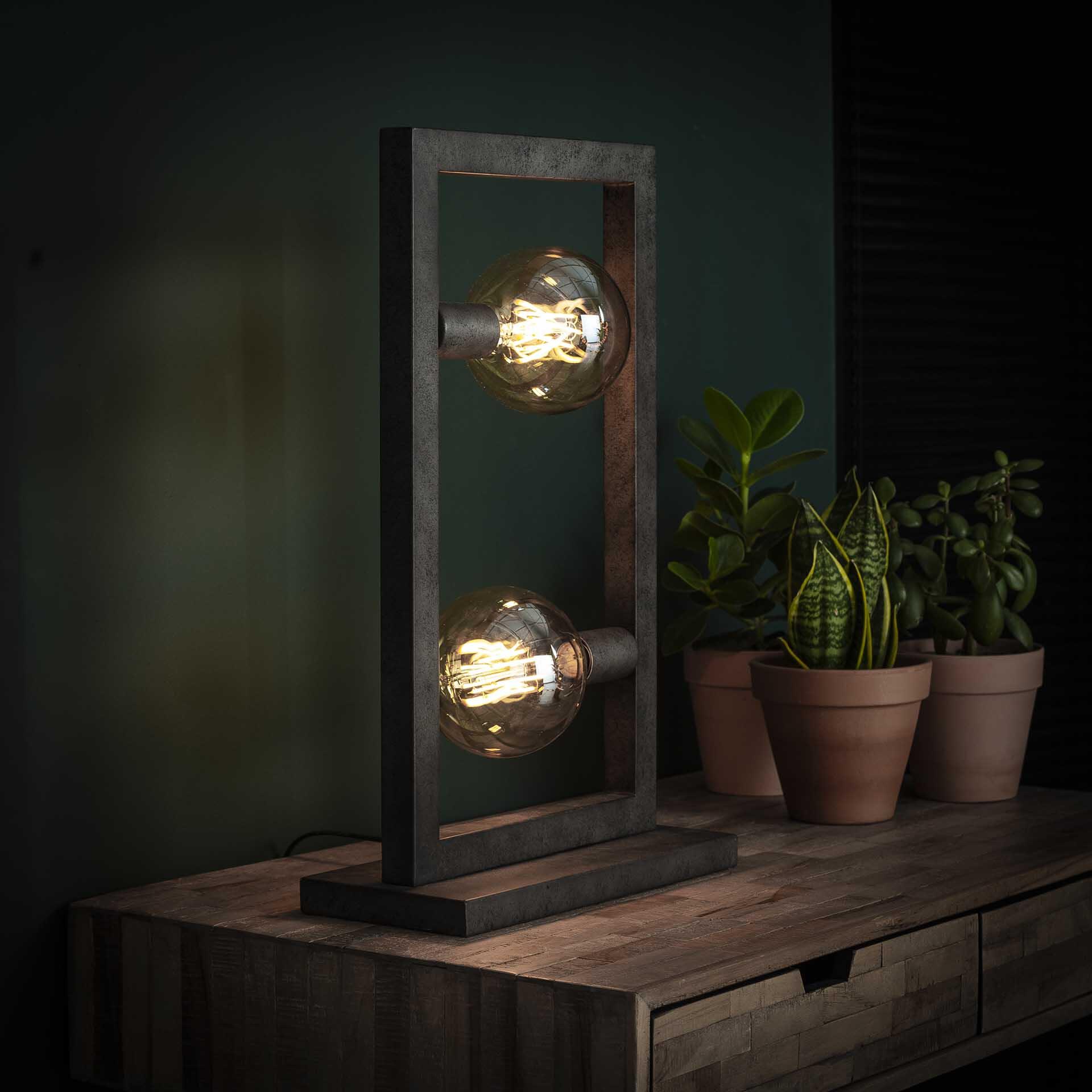 Tafellamp 'Allan' 2-lamps, 55cm hoog