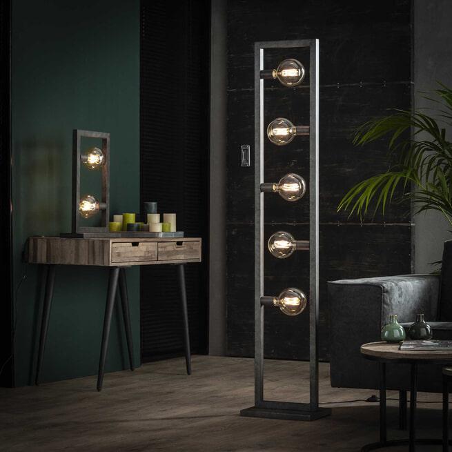 Vloerlamp 'Allan' 5-lamps, 165cm hoog