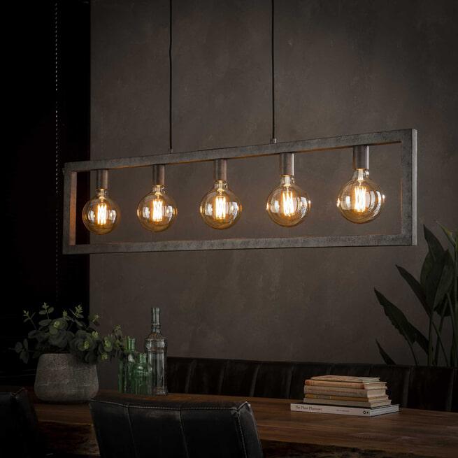 Hanglamp 'Allan' 5-lamps, 120cm