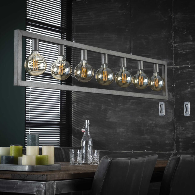 Hanglamp 'Denholm' 7-lamps, 165cm