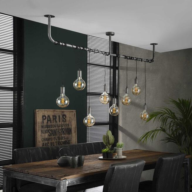 Hanglamp 'Samuel' 8-lamps