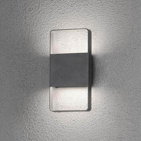 Buitenlamp 'Matera' Wandlamp, PowerLED 2 x 6W / 230V, kleur antraciet