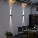 Buitenlamp 'Chieri' Wandlamp, PowerLED 2 x 6W / 230V, kleur antraciet