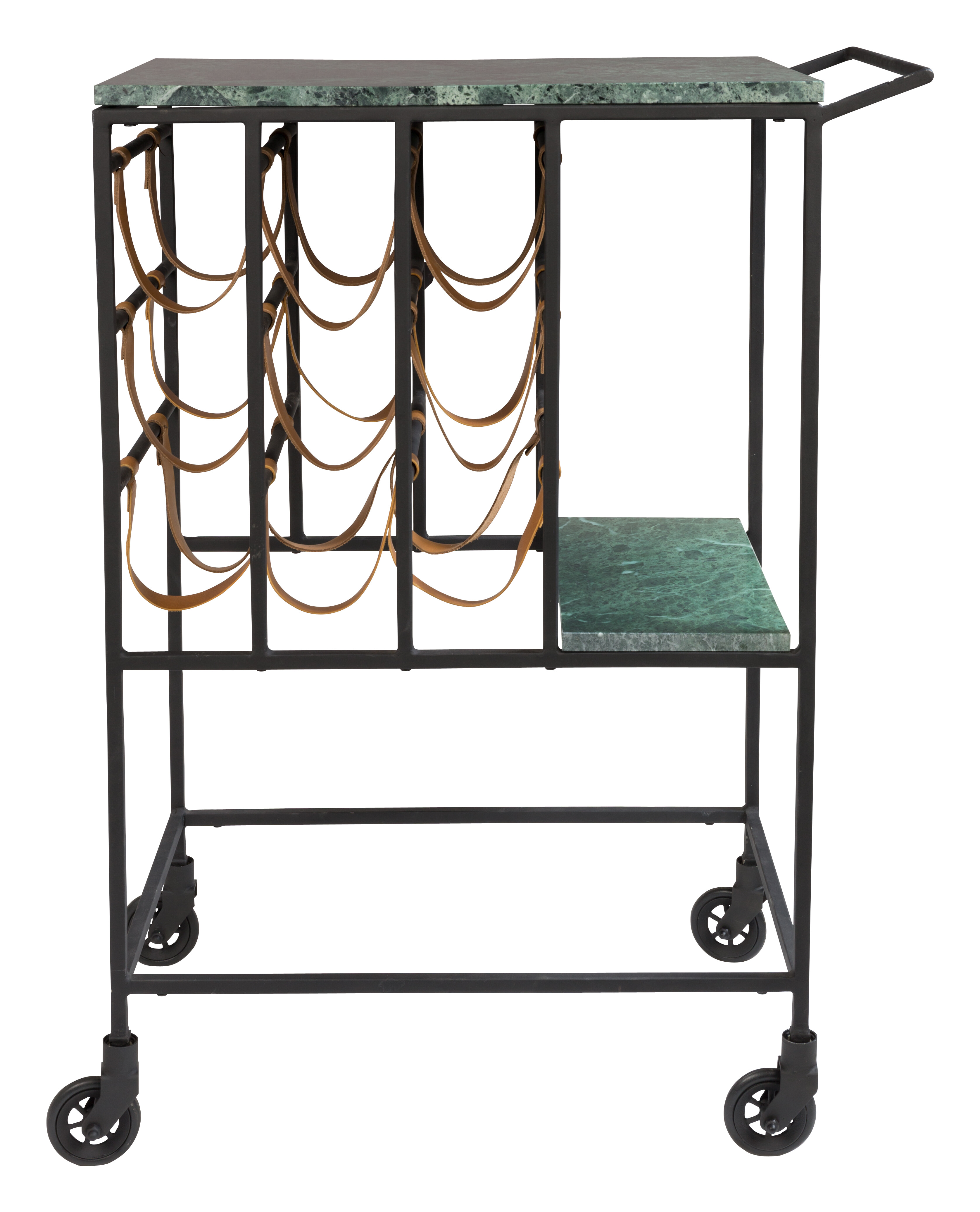 Dutchbone Trolley 'Mil' Groen Marmer