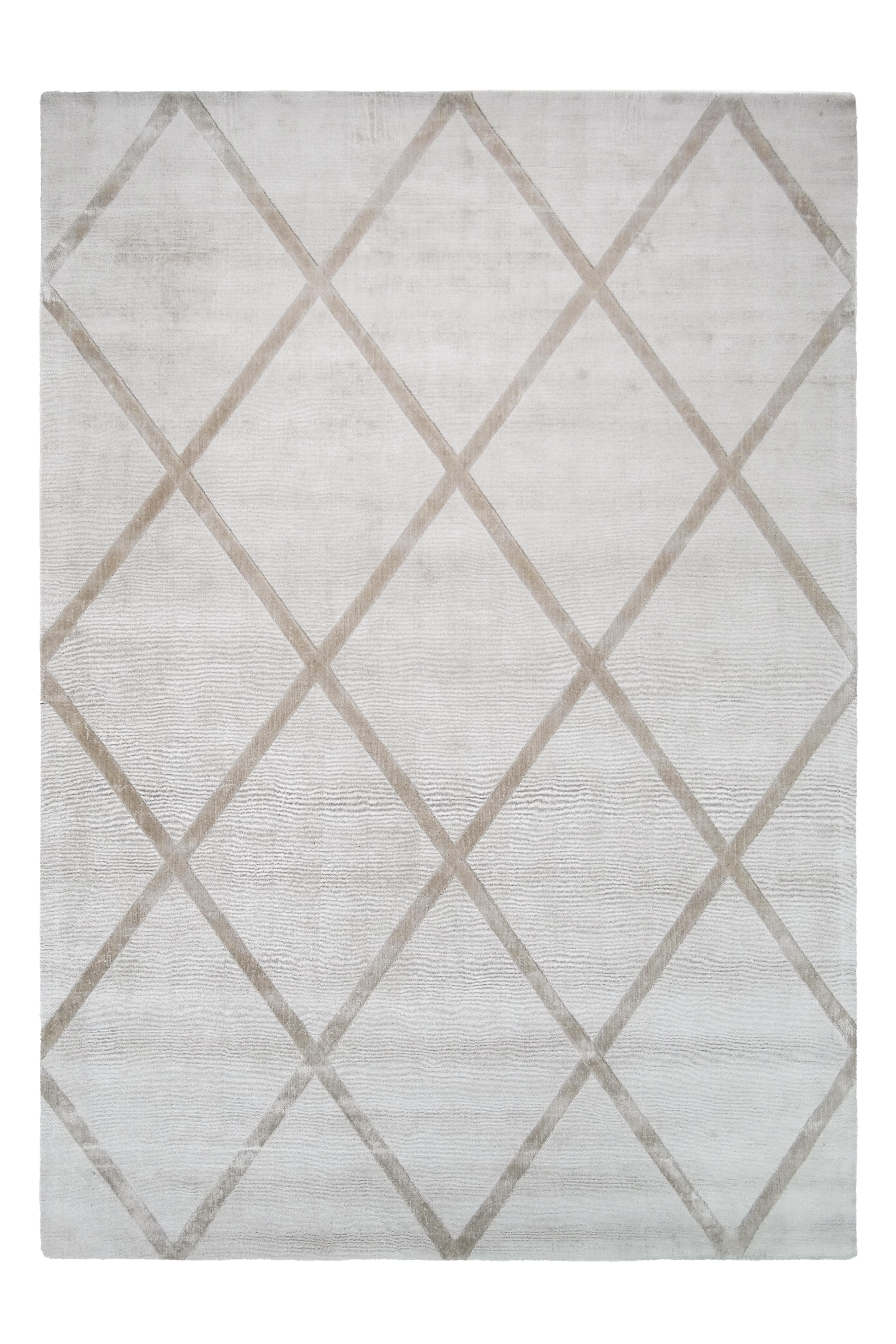 Kayoom Vloerkleed 'Luxury 210' kleur Ivoor / Taupe, 80 x 150cm