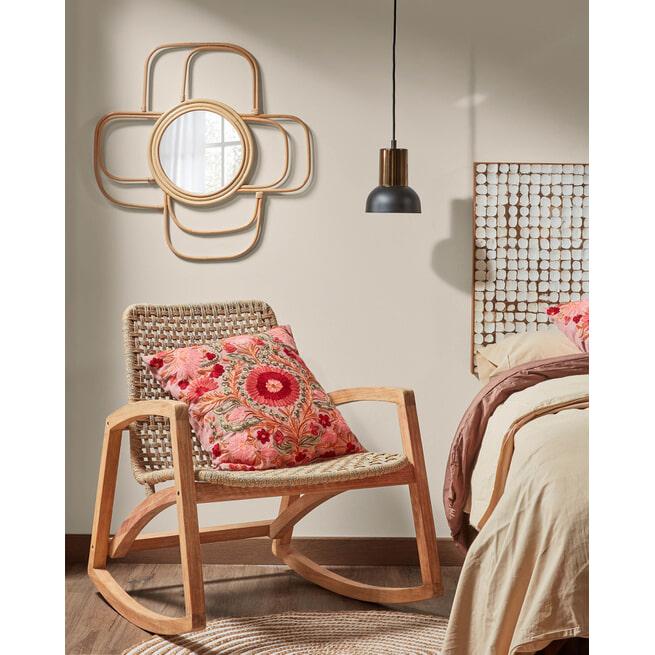 Kave Home Spiegel 'Maeve' 60 x 60cm, kleur Naturel