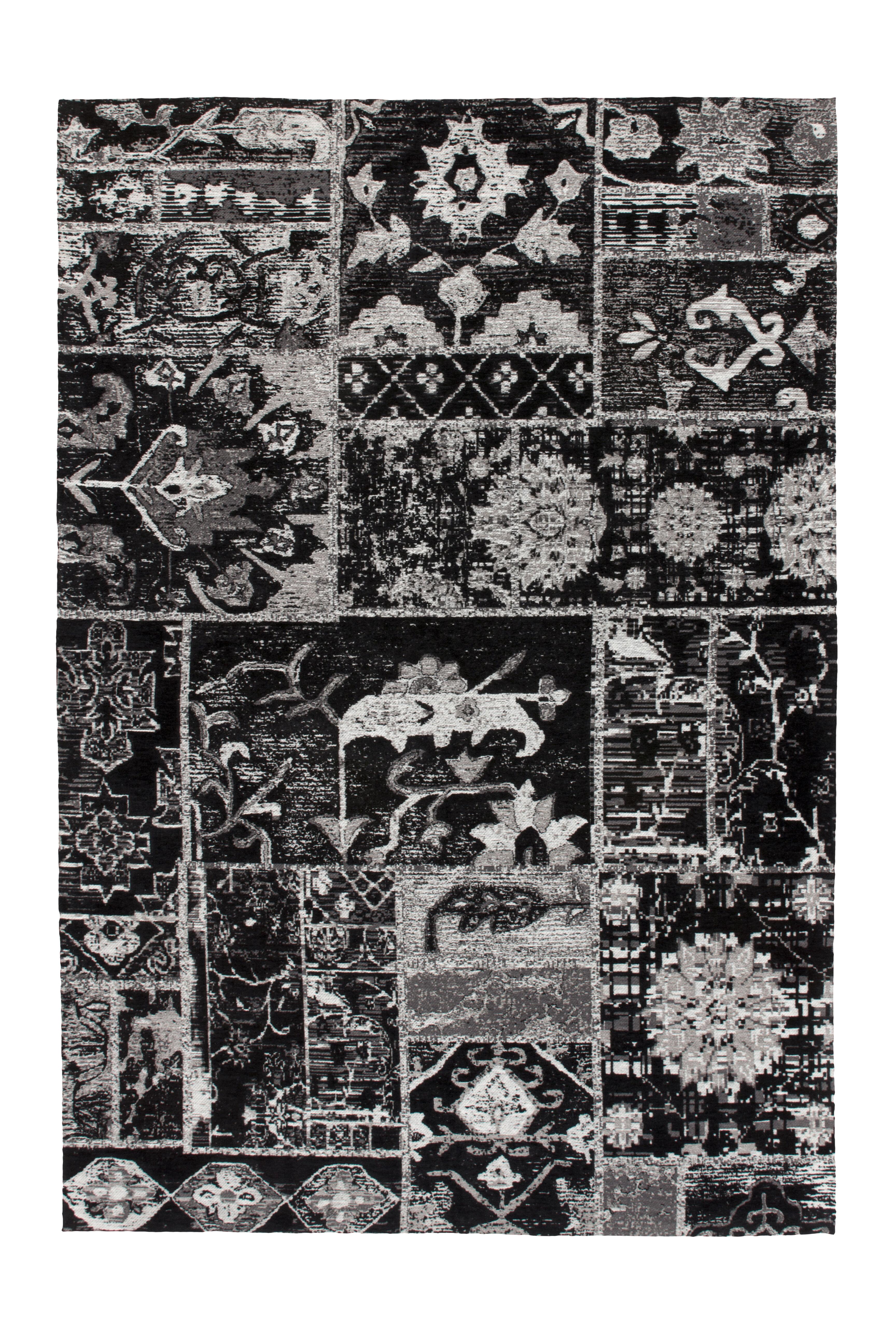 Kayoom Vloerkleed 'River 150' kleur Grijs / Zwart, 155 x 230cm