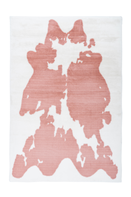 Kayoom Vloerkleed 'Rabbit Animal' kleur roze / wit, 160 x 230cm