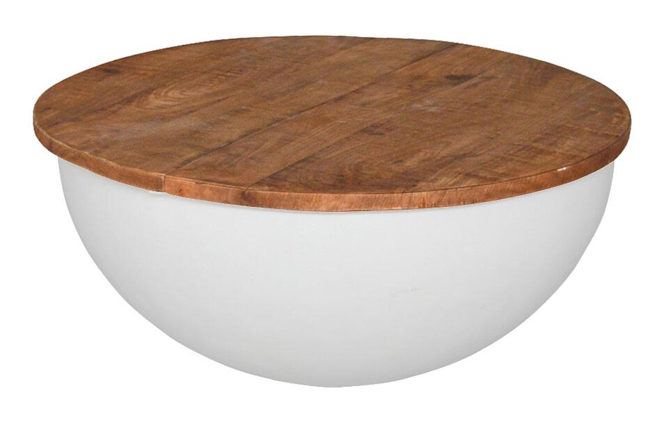 Brix Salontafel 'Suzan' 60 cm, kleur wit  vergelijken doe je het voordeligst hier bij Meubelpartner