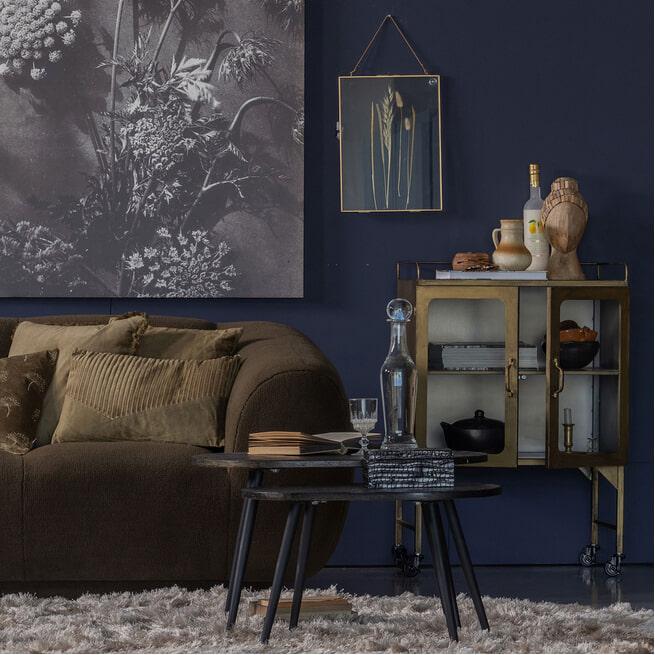 BePureHome Bijzettafel 'Oval' Set van 2 stuks, kleur Antique Goud