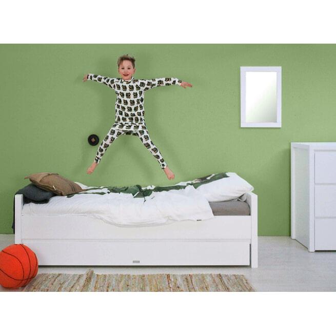 Bopita Twijfelaar bed met laag hoofdeinde 'Bobby' 120 x 200cm, kleur wit
