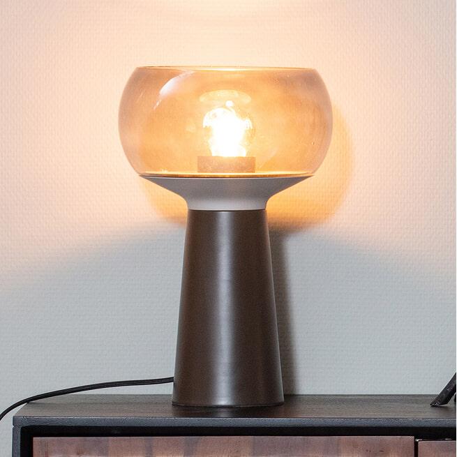 BePureHome Tafellamp 'Mushroom' 37xØ24cm, kleur Coffee