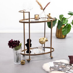 BePureHome Trolley 'Push' kleur Antique Brass