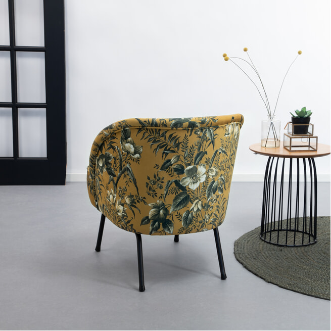 BePureHome Fauteuil 'Vogue Poppy' Velvet