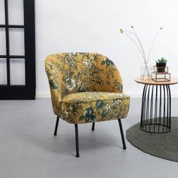 BePureHome Fauteuil 'Vogue Poppy' Velvet, kleur Mosterd