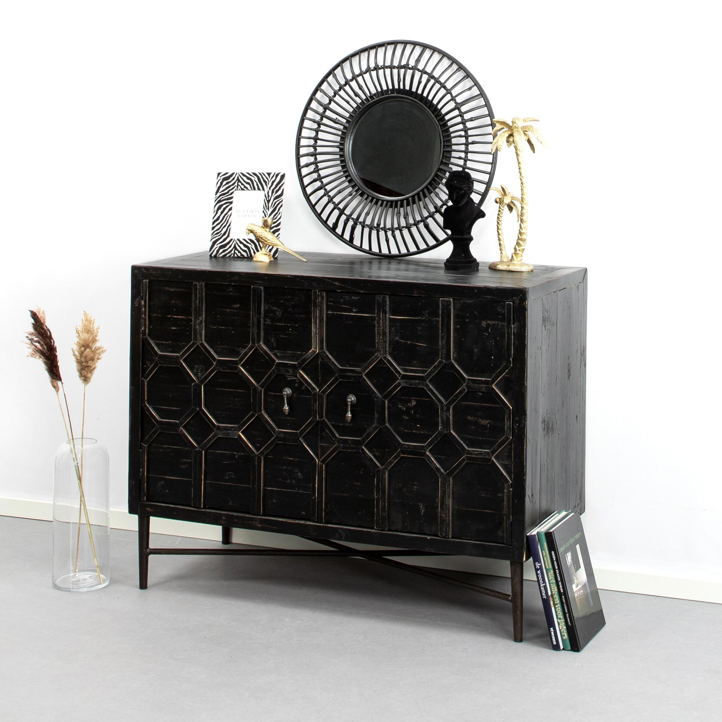 BePureHome Dressoir 'Bequest' 109cm, kleur Zwart