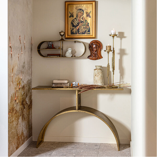 BePureHome Sidetable 'Altar', kleur Antique Brass