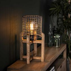 Tafellamp 'Norma' Mangohout, 47cm