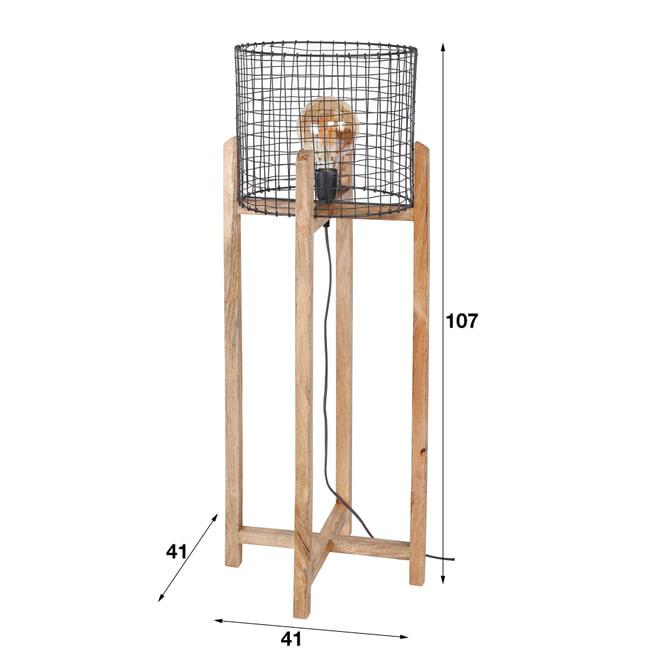Vloerlamp 'Tessi' Mangohout, 107cm